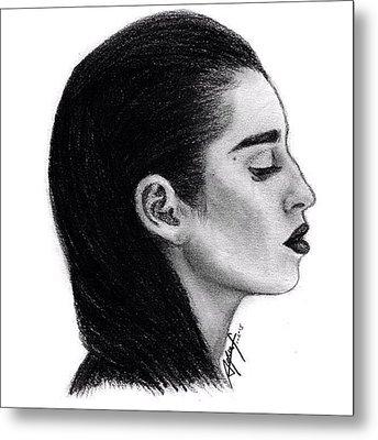 Lauren Jauregui Drawing By Sofia Furniel Metal Print