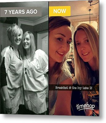 #throwback #thenandnow #love #loveher Metal Print by Natalie Anne
