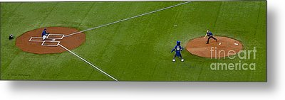 Throwing The First Pitch Metal Print