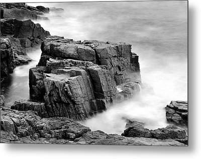Thunder Along The Acadia Coastline - No 1 Metal Print by Thomas Schoeller