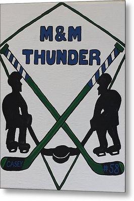 Thunder Hockey Metal Print by Jonathon Hansen