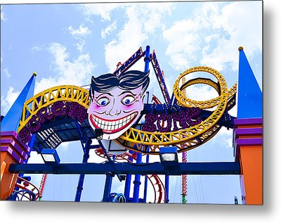 Thunderbolt Rollercoaster  Metal Print by Lanjee Chee
