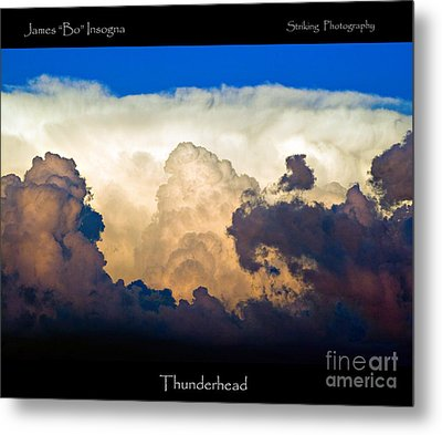 Thunderhead Cloud Color Poster Print Metal Print by James BO  Insogna