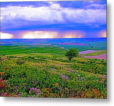 Thunderstorm Over The Palouse Metal Print