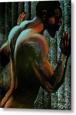 Metal Print featuring the painting Thwarted by Robert D McBain