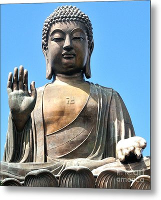 Tian Tan Buddha Metal Print by Joe  Ng