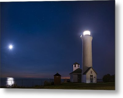 Metal Print featuring the photograph Tibbets Point Night by Mark Papke
