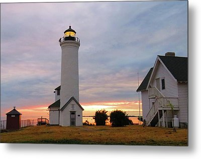 Tibbetts Point Lighthouse, July Sunset Metal Print