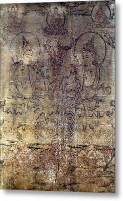 Tibetan Gouache Painting Metal Print by Granger