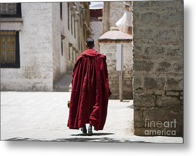Tibetan Monk Metal Print by Kalpana Geisenheyner