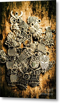 Tibetan Owl Charms Metal Print by Jorgo Photography - Wall Art Gallery