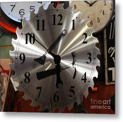 Metal Print featuring the painting Tick Tock Tick Tock by Rod Jellison