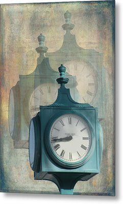 Tick Tock Version Two Metal Print by Rosalie Scanlon