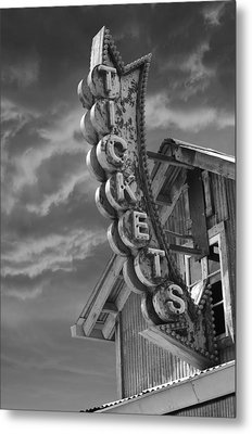 Tickets Bw Metal Print by Laura Fasulo