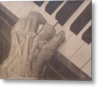 Tickling The Ivory Metal Print by Wil Golden