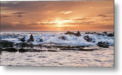 Metal Print featuring the photograph Tidal Sunset by Heather Applegate