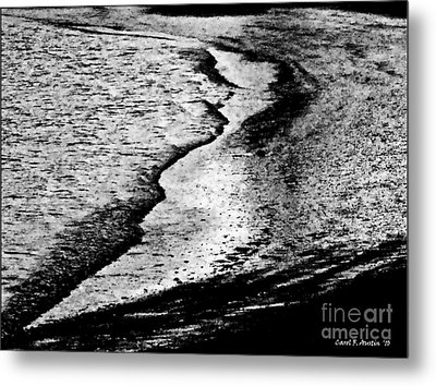 Tidal Wave Reaching For The Shoreline Metal Print by Carol F Austin