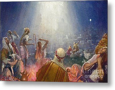 Tidings Of Great Joy Metal Print by John Millar Watt