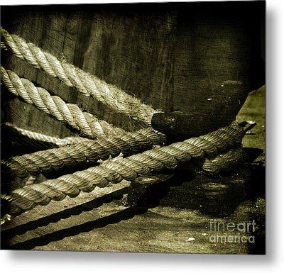 Tied Down For Good Metal Print by Susanne Van Hulst