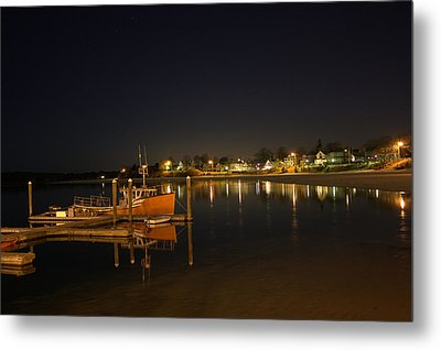 Metal Print featuring the photograph Tied Up For The Night by Greg DeBeck