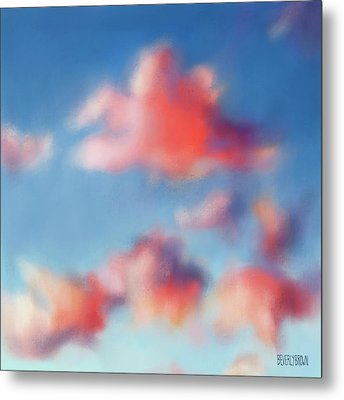 Tiepolo Clouds Metal Print by Beverly Brown