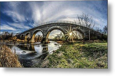 Tiffany Bridge Panorama Metal Print