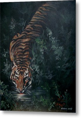 Metal Print featuring the painting Tiger by Bryan Bustard