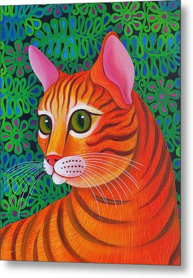 Tiger Cat Metal Print