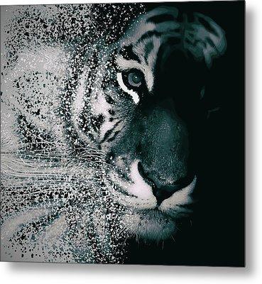 Tiger Dispersion Metal Print