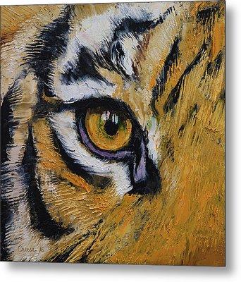 Tiger Eye Metal Print by Michael Creese