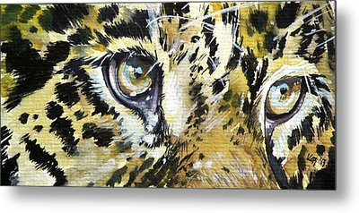 Metal Print featuring the painting Tiger Eyes by Kovacs Anna Brigitta