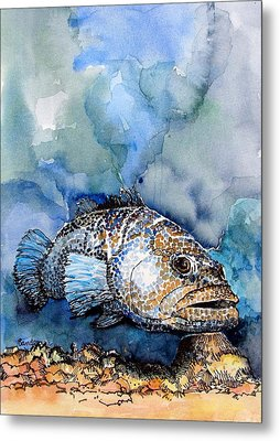 Metal Print featuring the painting Tiger Grouper by Terry Banderas