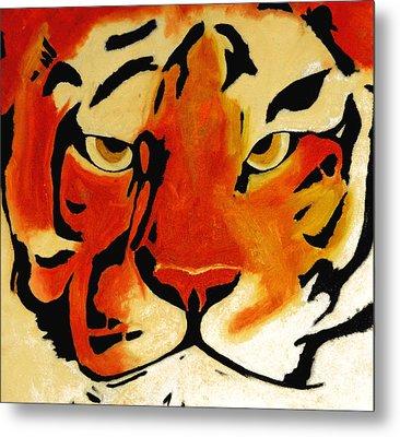 Tiger Metal Print by Turtle Caps