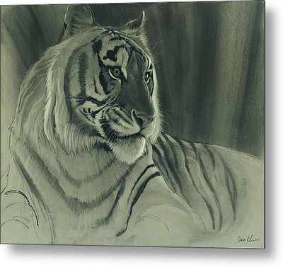 Metal Print featuring the digital art Tiger Light by Aaron Blaise