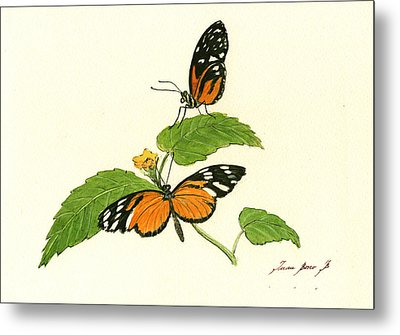 Tiger Longwing Heliconian Metal Print