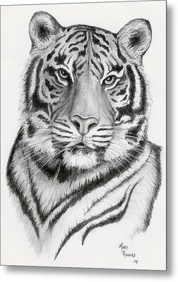 Tiger Metal Print by Mary Rogers