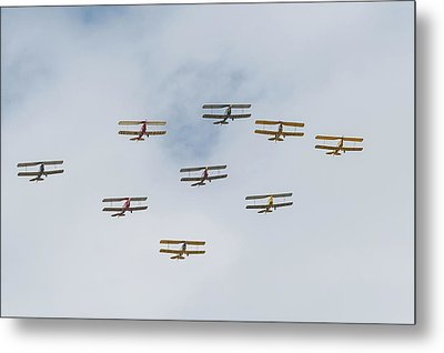 Metal Print featuring the photograph Tiger Moth Formation by Gary Eason
