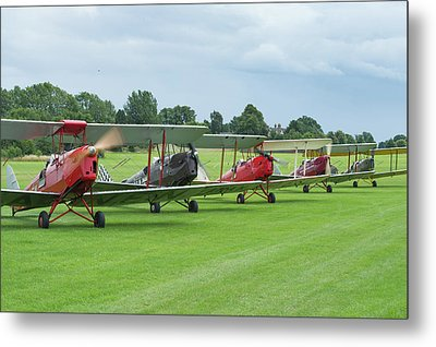 Metal Print featuring the photograph Tiger Moths Formation Shutdown by Gary Eason