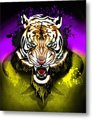 Metal Print featuring the digital art Tiger Rag by AC Williams
