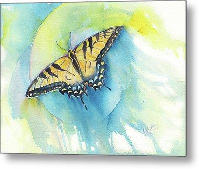 Tiger Swallowtail Metal Print by A Christie Michelsen
