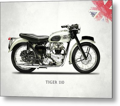 Tiger T110 1957 Metal Print by Mark Rogan