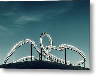 Tiger Versus Turtle. Metal Print
