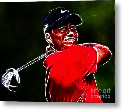 Tiger Woods Metal Print