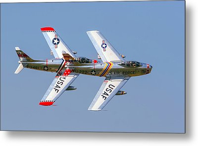 Tight Formation Metal Print by Allan Levin