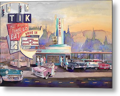 Tik Tok Drive-inn Metal Print by Mike Hill
