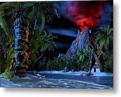Tiki Jungle Metal Print by Alex George