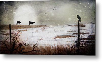 Metal Print featuring the photograph 'til The Cows Come Home by Theresa Tahara