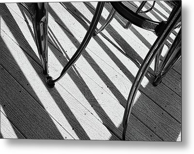 Tilt Black And White Photography Metal Print by Ann Powell