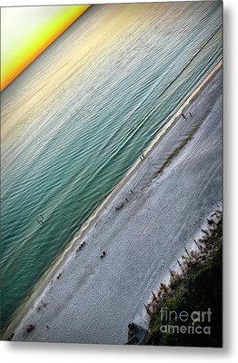 Tilted Rule Of Thirds Beach Sunset Metal Print by Walt Foegelle