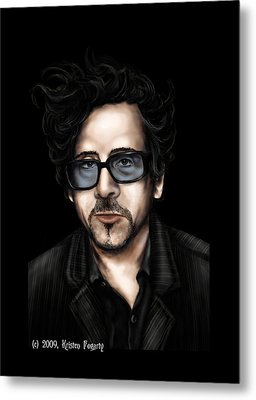 Tim Burton Metal Print by Kristen Fogarty